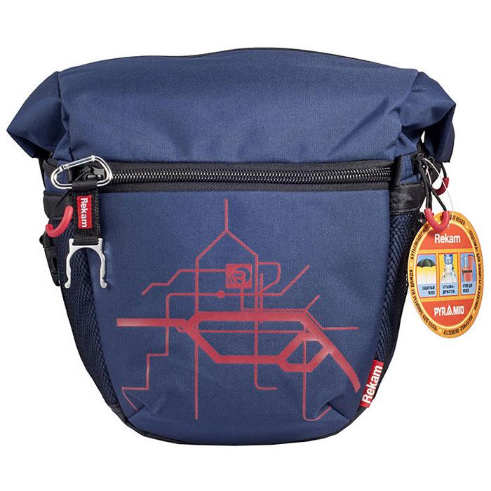 Rekam Pyramid RBX-59, Blue сумка для фотокамеры1401101253Стильная, эргономичная сумка Rekam Pyramid RBX-59 предназначена для зеркальной фотокамеры. Прочный материал, надежные молнии и крепления, обеспечивают максимальную защиту фототехники. Дополнительные отсеки и карманы позволяют разместить выносную фотовспышку и пару аксессуаров. Благодаря отсеку для личных вещей, который при необходимости удобно складывается и не занимает места, сумка отлично подходит для отдыха и путешествий.