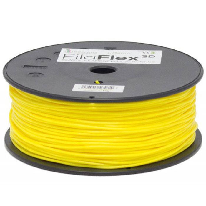BQ Filaflex пластик в катушке, 1,75 мм, YellowF000086Пластик BQ Filaflexэто эластичный термопластик для использования в 3D принтерах, стойкий к моющим средствам и щелочам. Один из лучших материалов для печати на 3D принтере, он не теряет форму при растяжении и имеет высокую прочность на разрыв. Материал абсолютно без запаха и не является токсичным. Температура плавления215-250°C. Пластик BQ Filaflex применяется для создания гибких, эластичных 3D моделей, таких как ремешки часов, обувь, предметы одежды и аксессуары, а также как часть более сложных 3D моделей в комбинации с обычным PLA пластиком. Одной катушки BQ Filaflex хватит на десятки изделий.Диаметр пластиковой нити: 1,75 ммПредел прочности: 39 МПа