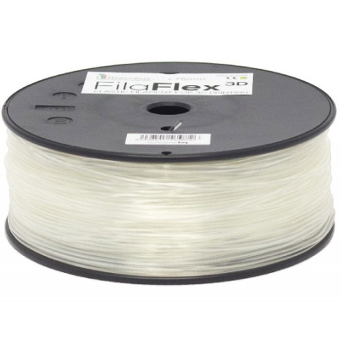 BQ Filaflex пластик в катушке, 1,75 мм, TransparentF000092Пластик BQ Filaflexэто эластичный термопластик для использования в 3D принтерах, стойкий к моющим средствам и щелочам. Один из лучших материалов для печати на 3D принтере, он не теряет форму при растяжении и имеет высокую прочность на разрыв. Материал абсолютно без запаха и не является токсичным. Температура плавления215-250°C. Пластик BQ Filaflex применяется для создания гибких, эластичных 3D моделей, таких как ремешки часов, обувь, предметы одежды и аксессуары, а также как часть более сложных 3D моделей в комбинации с обычным PLA пластиком. Одной катушки BQ Filaflex хватит на десятки изделий.Диаметр пластиковой нити: 1,75 ммПредел прочности: 39 МПа