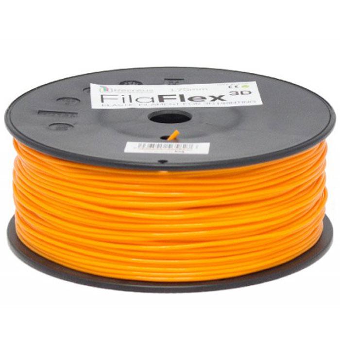 BQ Filaflex пластик в катушке, 1,75 мм, OrangeF000087Пластик BQ Filaflexэто эластичный термопластик для использования в 3D принтерах, стойкий к моющим средствам и щелочам. Один из лучших материалов для печати на 3D принтере, он не теряет форму при растяжении и имеет высокую прочность на разрыв. Материал абсолютно без запаха и не является токсичным. Температура плавления215-250°C. Пластик BQ Filaflex применяется для создания гибких, эластичных 3D моделей, таких как ремешки часов, обувь, предметы одежды и аксессуары, а также как часть более сложных 3D моделей в комбинации с обычным PLA пластиком. Одной катушки BQ Filaflex хватит на десятки изделий.Диаметр пластиковой нити: 1,75 ммПредел прочности: 39 МПа