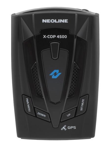 Neoline X-COP 4500 GPS, Black радар-детекторX-COP 4500Повышенная чувствительность (SDTCT Ultra Plus)Neoline X-COP 4500 создан на базе новой платформы повышенной чувствительности SDTCT Ultra Plus, которая гарантирует своевременное обнаружение сигналов широкого спектра диапазонов, в том числе маломощных полицейский радаров.GPS-база полицейских радаровВ устройство интегрирован GPS-модуль, отвечающий за обнаружение точек координат полицейских радаров, которые были ранее установлены в базу GPS. Также как и свои предшественники, Х-СОР 4500 имеет встроенную базу радаров России, Беларуси, Казахстана, Украины, Европы, Азербайджана, Армении. Для использования устройства в странах ЕС, где запрещено использование радиомодуля, необходимо отключить все диапазоны частот, при этом только GPS-модуль останется активным.Компания Neoline предоставляет 2 года гарантийного обслуживания на радар-детекторы серии Х-СОР. Мы гордимся качеством нашей продукции и дорожим каждым клиентом!Радиомодуль обнаружения полицейских радаров Стрелка Новое устройство оснащено дополнительным радиомодулем обнаружения полицейского радара Стрелка, который работает в диапазоне К (24.150 Ггц). Neoline X-COP 4500 поможет обнаружить Стрелку при любых погодных условиях и вне зависимости от элементов ландшафта.Таблица радаровАвтодорияNeoline X-COP 4500 настроен на обнаружение самых современных камер системы «АВТОДОРИЯ», которые с помощью видеоблока и технологии оптического распознавания госномера контролируют среднюю скорость автомобиля на участке дороги от 500 м. до 10 км.Neoline X-COP 4500 предупредит водителя о таких камерах и проинформирует о превышении разрешенной скорости на участке дороги.СтрелкаNeoline X-COP 4500 имеет встроенный дополнительный модуль обнаружения полицейского радара Стрелка-СТ и Стрелка-М (24.150 Ггц) и уверенно обнаруживает «неуловимый» радар на расстоянии до 1,5 км.Маломощные радары(Кречет, Сокол, Робот, Крис, Арена, MESTA и др.)Новейшая платформа SDTCT Plus и специальная настройка ПО позво