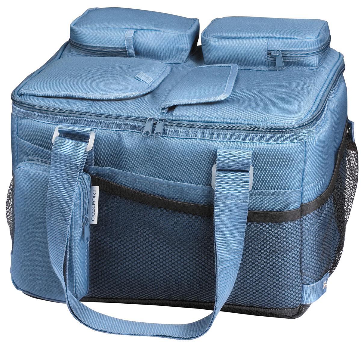 Coolfort CF-1221 cумка-холодильник объем 21 л1221-CF-01Термоэлектрическая сумка-холодильник Coolfort СF-1221.Эта модель обладает достаточно компактными размерами, поэтому вполне найдет себе применение не только в качестве устройства, которое необходимо при выезде на природу или за город, но и в качестве мобильного холодильника в автомобиле. С помощью аккумулятора Coolfort CF-1221 может эффективно охлаждать внутреннее пространство на 15 градусов по отношению к окружающему воздуху. После отключения устройства заданная температура поддерживается благодаря уникальной технологии THERMOFORT.Система вентиляции двусторонняя, что позволяет ей действовать более эффективно. Для того чтобы было удобнее хранить шнур и адаптер, в конструкции этой сумки холодильника предусмотрены специальные карманы. Это помогает всегда держать нужные элементы под рукой. Ручка для переноса может регулироваться по длине, что позволяет сделать это устройство еще более удобным при транспортировке. Если моделью не планируется пользоваться в течение некоторого времени, то ее можно компактно сложить, чтобы она занимала меньше места при хранении.Двусторонняя система вентиляцииОхлаждение относительно окружающей среды: 15°СПотребляемая мощность: 37 Вт (DC), 20 Вт (AC)Электропитание: 12 В (DC), внешний адаптер 230 В (АС)
