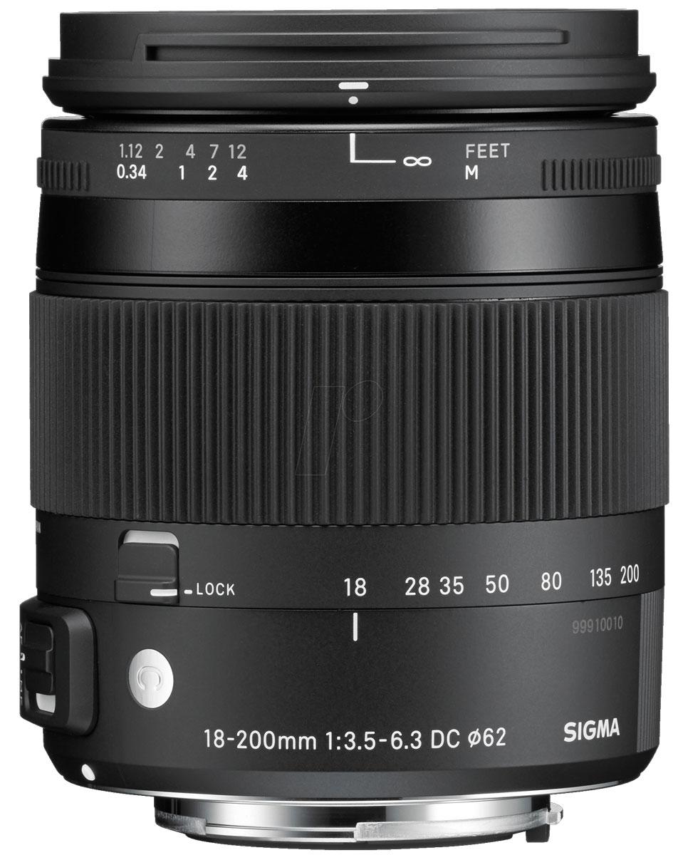 SigmaAF18-200mmF/3.5-6.3DCMACROOSHSM/C, Black объектив для Nikon