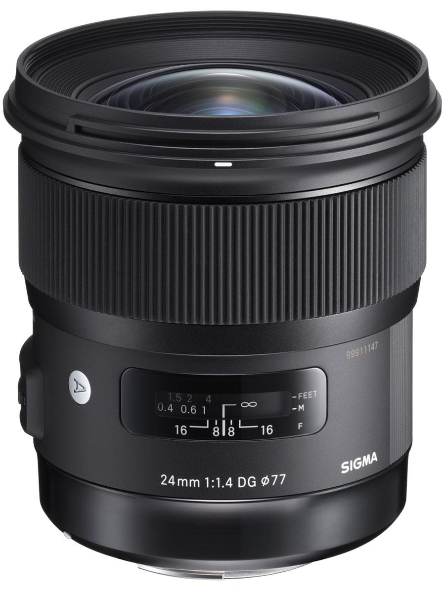 SigmaAF24mmF1.4DGHSMArt, Black объектив для Nikon sigma af 24 105mm f 4 0 dg hsm art объектив для sony