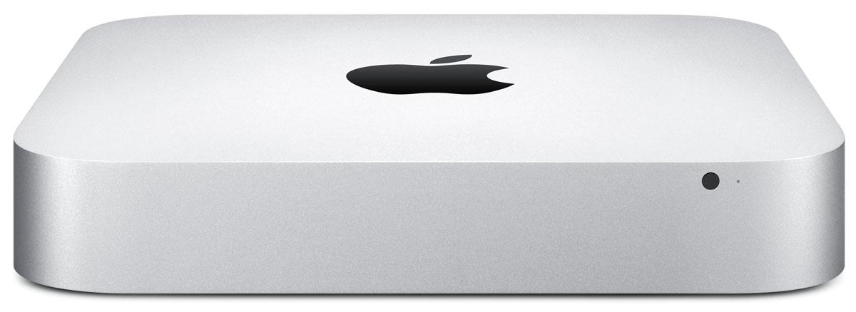 Apple Mac mini (MGEN2RU/A)MGEN2RU/AApple Mac mini - компактный настольный компьютер, в квадратном корпусе которого спрятаны полноценные возможности компьютера Mac. Просто подключите к нему монитор, клавиатуру и мышь - и вы готовы к великим свершениям. Mac mini оснащаются процессорами Intel Core четвёртого поколения и могут посоревноваться с компьютерами вдвое большего размера. Вы можете остановиться на двухъядерном процессоре Intel Core i5 с тактовой частотой 1,4 ГГц, 2,6 ГГц или 2,8 ГГц. Или выбрать ещё более мощный двухъядерный процессор Intel Core i7 с тактовой частотой 3,0 ГГц. Разрешение, обеспечиваемое графическими процессорами Intel Iris Graphics и Intel HD Graphics 5000, до 90% выше по сравнению со встроенным графическим процессором предыдущего поколения. Поэтому при просмотре видео и во время игр изображение на экране более плавное и естественное. Просматривать фотоальбомы стало удивительно просто. И теперь у вас есть все возможности, чтобы превратить снятое вами HD-видео в настоящий шедевр.Технология Thunderbolt 2на Mac mini обеспечивает невероятную скорость. Два разъёма Thunderbolt 2 на Mac mini оснащены двойными каналами передачи данных с пропускной способностью 20 Гбит/с. Это до четырёх раз быстрее, чем разъёмы USB 3.0. Помимо скорости, технология Thunderbolt предлагает уникальные возможности для расширения. К одному разъёму можно последовательно подключить до шести устройств. А поскольку в основе Thunderbolt лежит технология DisplayPort, к такому разъёму можно напрямую подключать устройства Mini DisplayPort, такие как монитор Apple LED Cinema.Ко встроенному в Mac mini разъёму USB 3.0 можно подключать внешний жёсткий диск и копировать большие файлы за считаные секунды. Каждый Mac mini оснащён четырьмя разъёмами USB 3, которые позволяют передавать данные почти в 10 раз быстрее, чем разъёмы USB 2.0. К ним можно подключать любые USB-совместимые устройства, в том числе iPhone, iPad, iPod и цифровую камеру. В каждый Mac mini встроена мощная беспроводная техн
