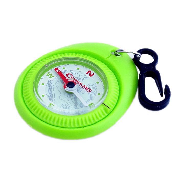 Туристический компас Coghlans, цвет: зеленый1236gПростой туристический компас Coghlans с карабином для крепления на одежду. Может использоваться в качестве брелока. Компас имеет вращающийся ободок с установкой направления и заполнен специальной жидкостью.
