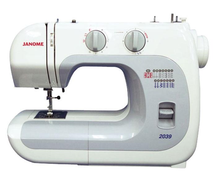 Janome 2039 швейная машина2039Швейная машинка Janome 2039 - удивительная электромеханическая модель, которая способна выполнять порядка 13 швейных операций (краеобметочная строчка, эластичный шов, зигзаг, квадратная петля, полуверный стежок, декоративная отделка и пр.). При помощи этой современной модификации пользователь сможет оперативно вшить молнию в тканое изделие, выполнить узкие подвернутые швы на воротничках и т.д. Для определенной цели следует использовать соответствующий тип лапки, которые поставляются в комплекте с данной машинкой. Японская швейная машина оснащена опцией free arm, что гарантирует максимальное удобство в обработке трубчатых деталей одежды (рукава, штанины), а также мелких тканых аксессуаров. На корпусе машины имеется удобнейшая ручка, облегчающая ее транспортировку. Практичный нитеобрезательный механизм, находящийся на боковой кромке Janome 2039, даст возможность швее обрезать нить за долю секунды по окончании выполнения строчки. Универсальная швейная машина имеет стальную раму, к которой крепятся все движущие элементы и узлы - такое условие гарантирует повышение надежности конструкции.