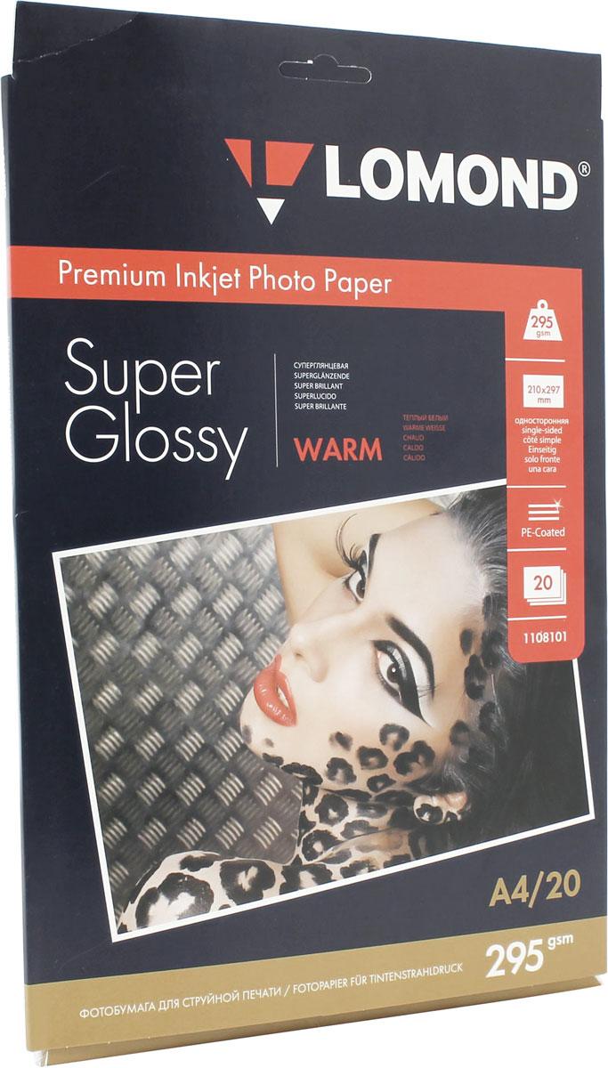Lomond Super Glossy Warm 295/A4/20л суперглянцевая тепло-белая1108101Суперглянцевая микропористая фотобумага Lomond для струйной печати.Микропористое покрытие обеспечивает столь же высокое качество печати, как и традиционная фотография. Себестоимость отпечатков на бумаге Lomond Premium Photo c использованием картриджей Lomond - ниже, чем стоимость отпечатков, получаемых по традиционной технологии с использованием химических реактивов. Благодаря полиэстеровому покрытию бумажной основы бумага Lomond Premium Photo совершенно не подвержена короблению после прохода через принтер даже при самой интенсивной заливке чернилами.Модификация Super Glossy по фактуре поверхности наиболее близка к традиционной химической фотобумаге. Отпечатки отличаются высоким глянцем.