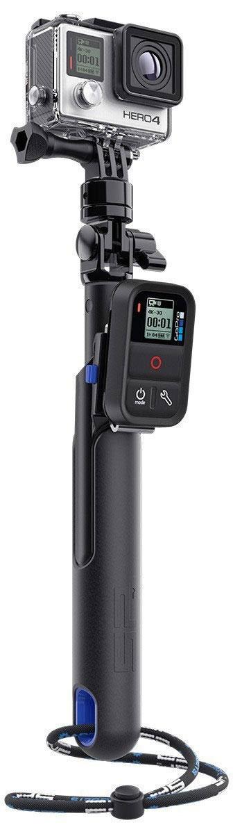 SP-Gadgets Smart Pole 28 для GoPro, Black монопод53018Благодаря универсальному моноподу SP-Gadgets Smart Pole 28 управление камерой во время съемок селфи теперь не только простой, но и комфортный процесс. Закрепите камеру GoPro на гаджете и увеличьте длину телескопической палки до 70 сантиметров. Создавайте яркие кадры с друзьями во время занятия спортом, при выполнении экшн-трюков и, конечно, себя любимого.Для того, чтобы быть уверенным в блестящем результате, контролируйте съемки с помощью пульта дистанционного управления Wi-Fi Remote или Smart Remote, которые монтируются в предназначенное для этого крепление. Использование пульта не ограничивает вас в действиях, ведь вместо него можно установить мобильный телефон, который всегда окажется под рукой! Надежно и быстро зафиксировать смартфон можно благодаря специальному аксессуару Phone Mount. Монопод наверняка станет вашей любимой палкой для селфи. Высокое качество исполнения, легкий вес и компактность в сложенном состоянии позволят вам брать SP-Gadgets Smart Pole 28 в любые поездки, независимо от времени года и места съемок.