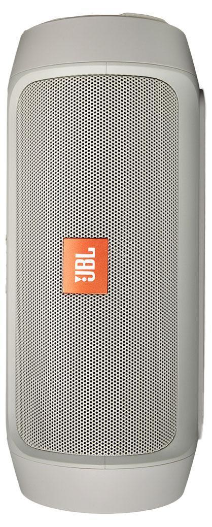 JBL Charge 2+, Gray портативная акустическая система6925281906817Портативная акустическая система с функцией зарядки, мощность 2х7,5 Вт, 2 встроенных в корпус пассивных радиатора , LED-индикация уровня зарядки батареи, кнопок и режим Social Mode-для подключения нескольких устройств, установка в любом положении (вертикальная или горизонтальная), прорезиненные торцы и элементы c защитой от брызг, Bluetooth, батарея 6 000 mAH, до 12 часов звучания, зарядка устройств через USB, цвет оранжевый.