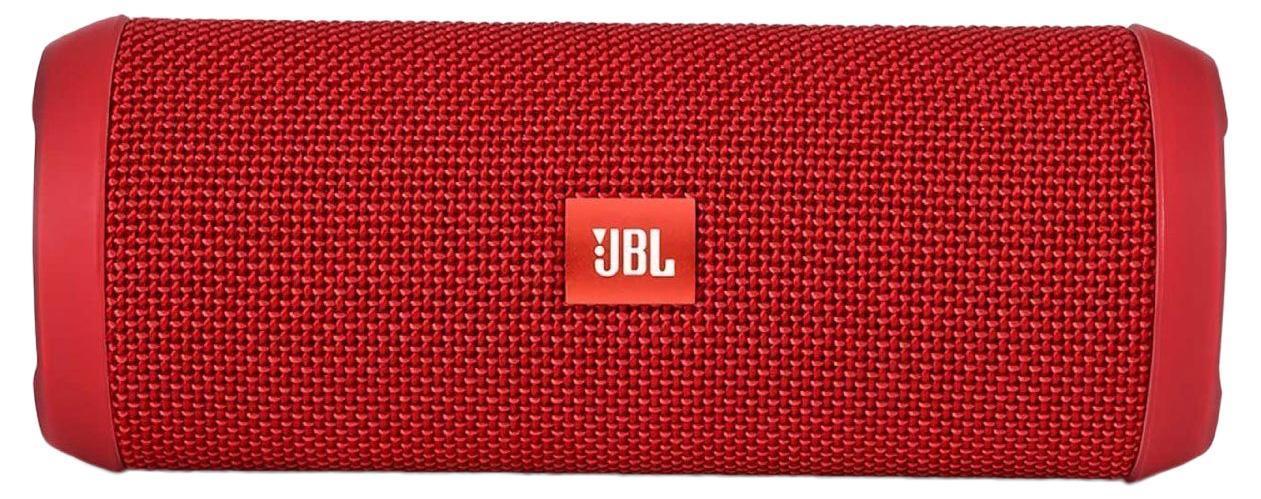 JBL Flip 3, Red портативная акустическая система6925281904363Это многоцелевой портативный Bluetooth-динамик, способный воспроизводить неожиданно мощный, наполняющий помещение стереозвук где угодно. Этот сверхкомпактный динамик работает от перезаряжаемого литий-ионного аккумулятора емкостью 3000 мА*ч, обеспечивающего до 10 часов непрерывного стереофонического воспроизведения в высоком качестве. В конструкции динамика используются доступные в 8 ярких расцветках износостойкие, защищающие от брызг тканевые материалы, что делает его универсальным спутником для любой погоды, наполняющим вашу жизнь музыкой повсюду и в любое время – за рабочим столом и на краю бассейна, солнечным утром и дождливой ночью... Кроме того, Flip 3 оснащен спикерфоном с функциями шумоподавления и эхокомпенсации для четкой конференц-связи, а функция JBL Connect позволяет объединять в беспроводную сеть несколько колонок, поддерживающих эту функцию, и таким образом усиливать акустические ощущения от прослушивания.