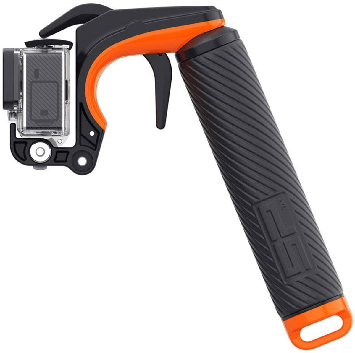 SP-Gadgets Pistol Trigger Grip Set, Black монопод для экшн-камеры53114Ручка-монопод-поплавок SP-Gadgets Pistol Trigger Grip Set используется для съемки фото и видео камерами GoPro с руки. Длина аксессуара 180 мм, сделан из качественного пластика, имеет удобную резиновую ручку, а так же ремешок и карабин в комплекте. Есть встроенный отсек для хранения мелких предметов. Всегда всплывает на поверхность воды. Поставляется со специальным механизмом, облегчающим запуск съемки.