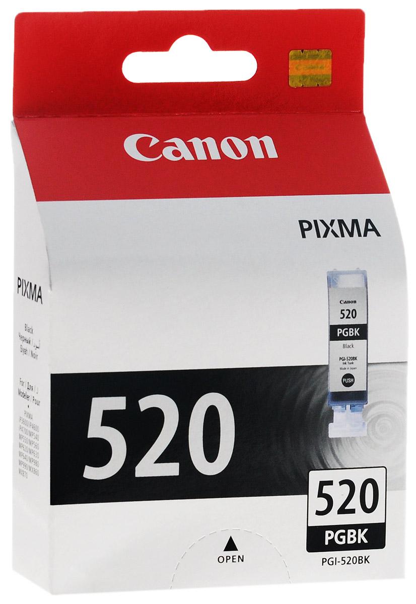 Canon PGI-520BK, Black картридж для струйных МФУ/принтеров2932B004Картридж Canon PGI-520BK с черными чернилами для принтеров Canon.