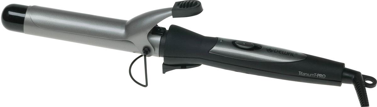 Dewal TitaniumT Pro 03-33А плойка для волос03-33AЩипцы для волос Dewal 03-33А TitaniumT Pro помогут вам создать незабываемый и оригинальный образ. Рабочая часть с турмалиновым покрытием обеспечит отличное скольжение, что сделает процесс укладки волос простым и приятным занятием. Максимальная температура нагрева составляет 190 °С. В данной модели используется покрытие рукоятки Soft Touch, препятствующее скольжению в руке.Титаново-турмалиновое покрытиеПокрытие корпуса Soft TouchТермостойкий наконечникДиаметр: 33 мм