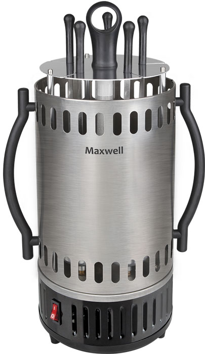 Maxwell MW-1990 ST электрошашлычница шашлычницы maxwell шашлычница maxwell mw 1990 st