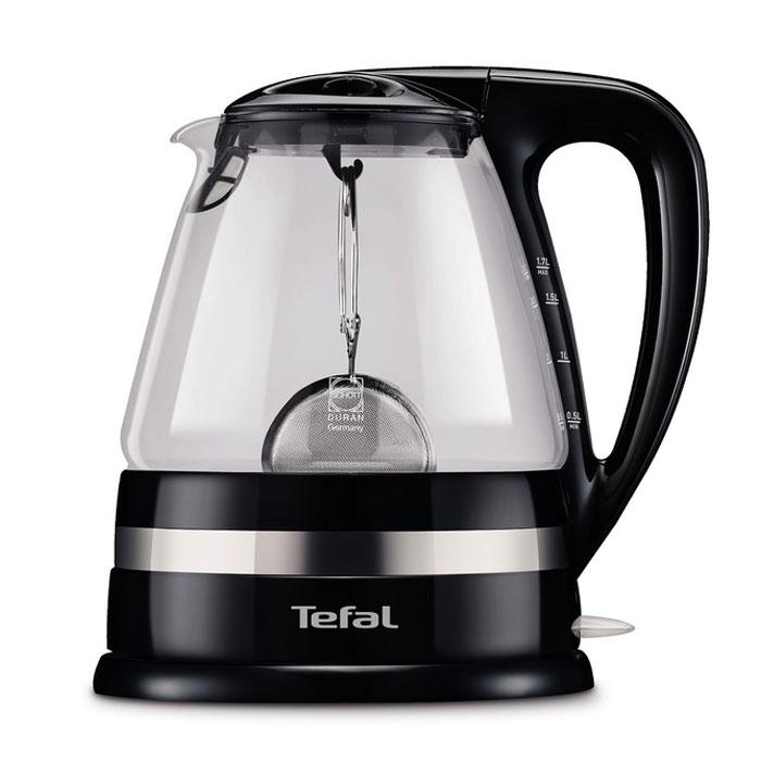 Tefal KO7108электрический чайникKO7108Tefal KO7108- современный электрический чайник со съемной крышкой и вращающимся на 360 градусов основанием. Прибор имеет скрытый нагревательный элемент, выполненный из высококачественной нержавеющей стали. Безопасный жаропрочный корпус из пластика и стекла обеспечит защиту от случайных ожогов. Кнопка включения/выключения чайника оснащена лампочкой-индикатором. Помимо прочего, электрочайник также имеет съемную крышку к которой крепится ситечко для заваривания листового чая (входит в комплект).