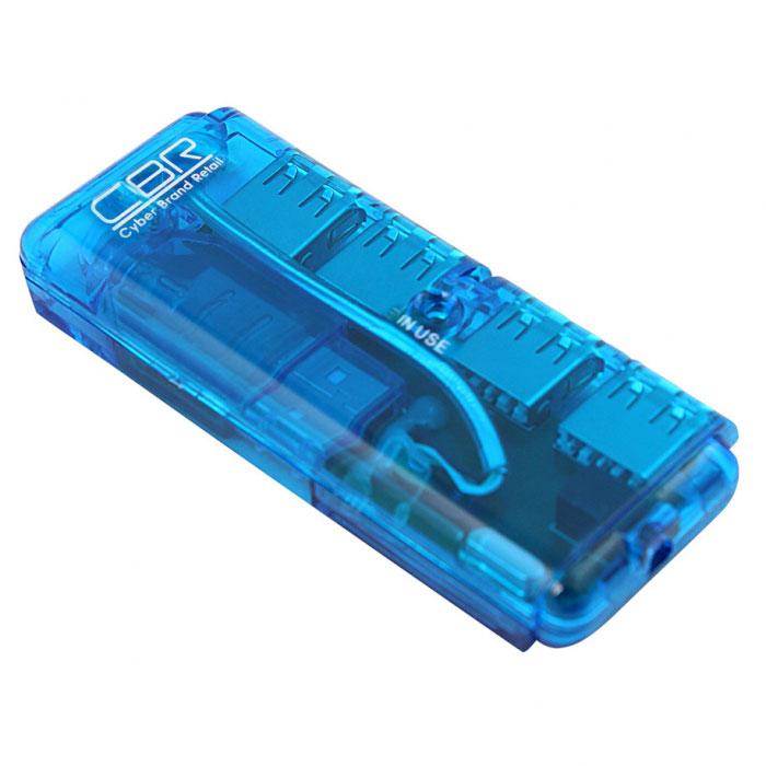CBR CH 129 USB-концентраторCH 129CBR CH 129 – 4-х портовых высокоскоростной USB-концентратор, который позволяет быстро и удобно подключать к компьютеру или ноутбуку внешнее оборудование. Концентратор выполнен в лаконичной форме и удобен для использования в поездках и работе вне офиса или дома. USB концентратор соответствует спецификации 2.0 шины USB и позволяет работать одновременно с четырьмя USB устройствами на скорости до 480 Мбит/с. К устройству могут подключаться сетевые USB-адаптеры, принтеры, сканеры, USB-накопители и другие гаджеты.Поддержка Plug&PlayПитание: USB-портСкорость передачи данных: до 480 Мбит/сФункция определения перегрузок по току и защиты выходных портовДлина провода: 2 см