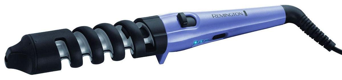 Remington CI63E1 щипцы для завивки волосCI63E1Щипцы Remington CI63E1 особенно понравятся тем девушкам, которые любят кудри. Этот простой в использовании прибор поможет создать тугие или свободные локоны с помощью специальной спиральной направляющей. Уникальный переключатель, позволит вам установить диаметр щипцов 19 мм и 31 мм, благодаря чему вы сможете создать тугие или свободные кудри, а ненагревающийся наконечник сделает укладку еще более легкой.С помощью трех температурных настроек, вы сможете выбрать режим, наиболее подходящий вашему типу волос или желаемой укладке. Для толстых волос или создания тугих кудрей, установите самую высокую температуру (200°C), для более тонких волос и создания более свободных кудрей, выберите средний (180°C) или низкий (160°C) температурные режимы. С помощью этого стайлера Remington CI63E1 вы, как профессиональный стилист, сможете создавать красивые локоны.Уникальный переключатель диаметра щипцов (19 и 31 мм)Спиральная направляющая для более легкой завивки Быстрый нагрев за 30 секундИндикатор готовности к работе