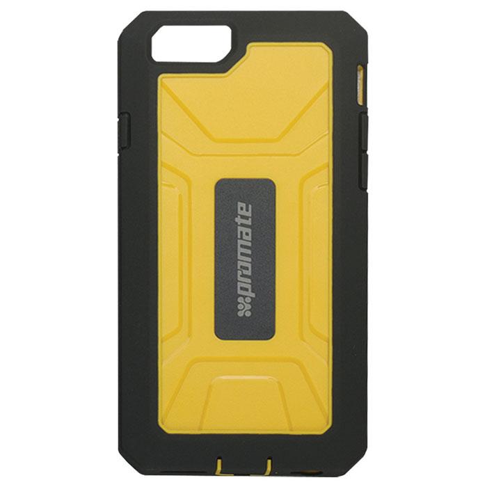 Promate Armor-i6 чехол для iPhone 6, Yellow00008280Чехол Promate Armor-i6 - жесткий, но в тоже время легкий, как перышко. Сделан из специальных композитных материалов, которые обеспечивают вашему телефону идеальную защиту. Чехол также обладает встроенной HD защитой экрана, что обеспечивают исключительную защиту от царапин. В то же время он обеспечивает полный доступ к сенсорному экрану, а также другим кнопкам управления и портам мобильного устройства.