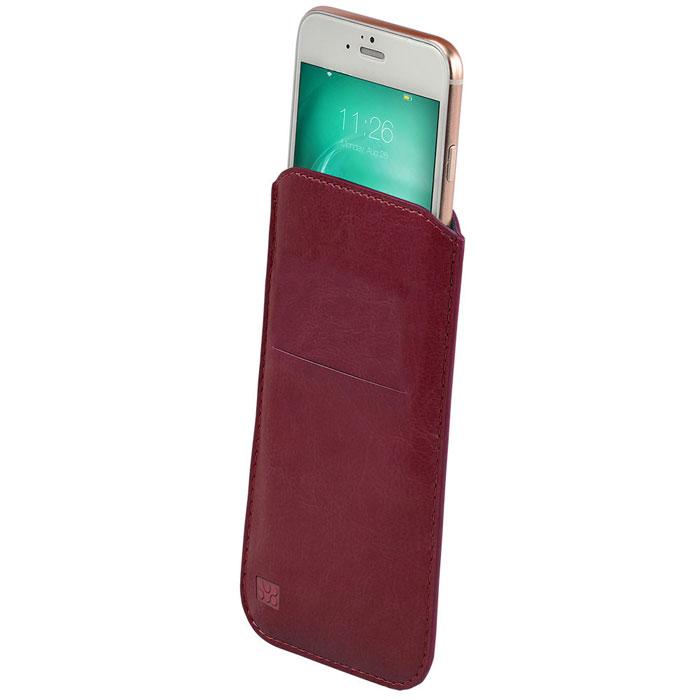 Promate Beslim-i6 чехол для iPhone 6, Bordeaux00008273Элегантный и надежный аксессуар Promate Beslim-i6 защитит ваш девайс от неприятностей, оставаясь в гармонии со стилем. Этот чехол-карман из обработанной вручную кожи премиум класса разработан в современном стиле устойчив к внешнему воздействию. Удобный язычок позволяет вытянуть ваш смартфон из чехла с минимальными усилиями. Доступен в разных цветовых решениях, чтобы соответствовать вашему стилю.