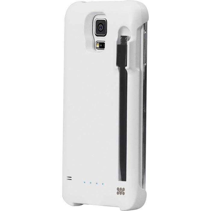 Promate PowerСase-S5, White аккумулятор-чехол для Samsung Galaxy S500007793Promate PowerСase-S5 - это инновационный гаджет, разработанный специально для смартфона Samsung Galaxy S5, чтобы обеспечить ему непревзойденную защиту и дополнительный заряд батареи. Тонкий корпус с симпатичной задней панелью, призванной защитить смартфон от случайных ударов и царапин прячет в себе дополнительную батарею. Система зарядки контролируется удобно расположенной кнопкой, находящейся на задней части чехла. Просто нажмите на эту кнопку, чтобы активировать зарядку. 5 светодиодов позволяют вам в каждый момент времени иметь полное представление о том, сколько энергии еще осталось про запас.Защита от короткого замыкания и перезарядки