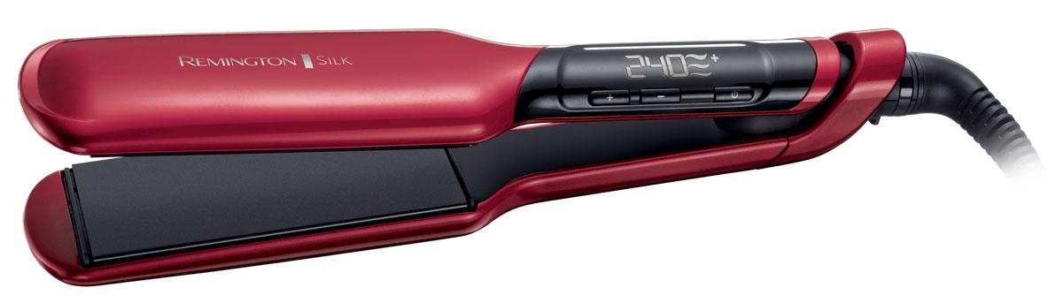 Remington S9620 выпрямитель для волосS9620Remington S9620 - самый быстрый и мощный выпрямитель Remington, с помощью которого вы сможете создать укладку салонного качества.В данной модели удачно используются усовершенствованная керамика и роскошный шелк, что делает покрытие в 2 раза более гладким. Широкие пластины выпрямителя содержат протеины шелка, а значит даже самые непослушные волосы станут идеально гладкими и шелковистыми.Благодаря регулировке температурного режима этот выпрямитель подойдет для любого типа волос. Кроме того, на цифровом экране выпрямителя будет показана наиболее подходящая температура для вашего типа волос - таким образом ваши волосы будут защищены от чрезмерного перегрева. Также на экране будет отражаться текущая температура нагрева для полного контроля.Размер пластин: 110 x 51 ммБлокировка кнопок нагреваФункция памяти – запоминает последние использованные настройки температуры