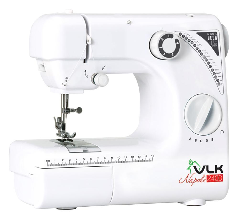 VLK 2400 швейная машина2400Швейная машина VLK Napoli 2400 станет Вашим незаменимым помощником, превратив шитье в творческий и увлекательный процесс.ФУНКЦИОНАЛЬНЫЕ ОСОБЕННОСТИ19 видов строчки, в том числе обработка петли для пуговицыАвтоматическая намотка нитиРегулируемая скорость шитьяРегулируемое натяжение нитиВстроенная LED подсветка Прямой и обратный ход при шитье Удобная ручка для переносаНитеобрезательОтсек для аксеcсуаров. Челнок и шпулька металлические. Максимальная толщина прошиваемых тканей - 1,8 мм