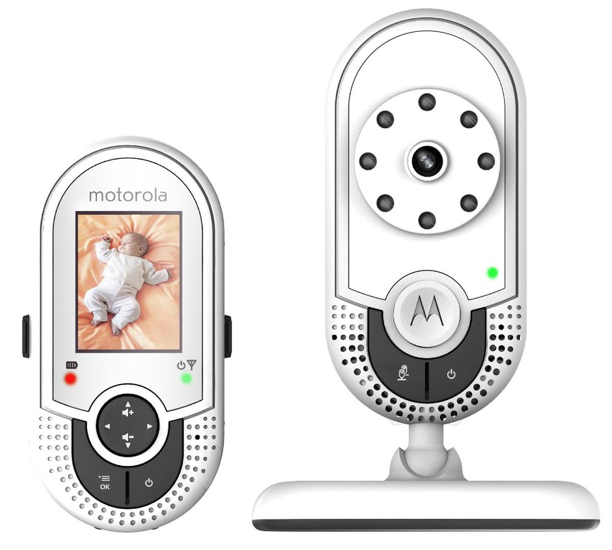 """Видеоняня Motorola MBP621 выполнена в стильном дизайне и представляет собой беспроводное устройство наблюдения за ребенком. Данная модель оснащена цветным ЖК дисплеем с диагональю экрана 1,8"""" и позволяет просматривать изображение с камеры на родительском модуле, а если детский модуль обнаруживает звук в комнате ребенка, на родительском модуле появляется изображение малыша. Отличное качество изображения, инфракрасный ночной режим, датчик комнатной температуры и многое другое делает эту модель незаменимым помощником для родителей."""