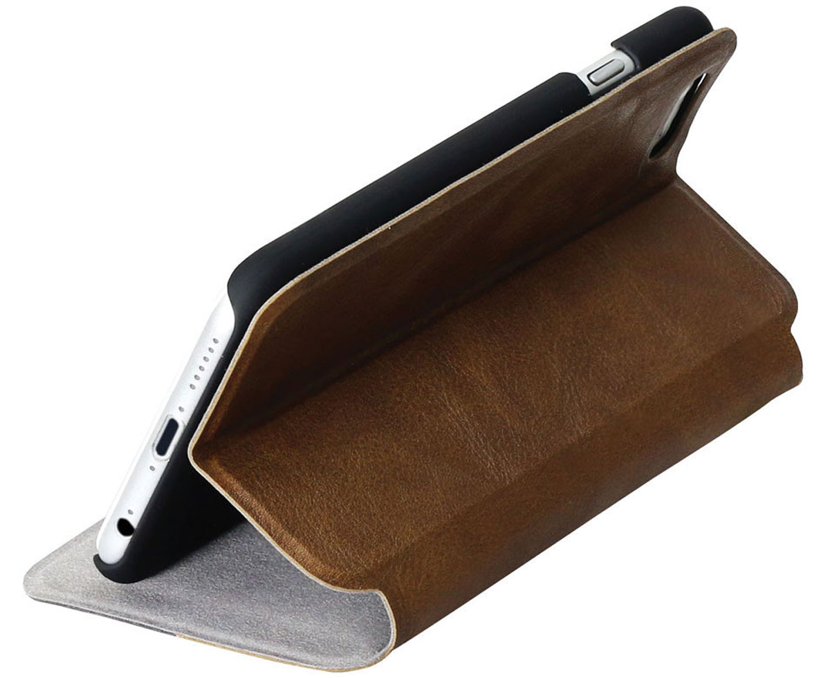 Promate Brace-i6P чехол для Apple iPhone 6, Brown6959144012940Оденьте свой новый Apple iPhone 6 в исключительный качеству, сделанный из кожи и термопластичного полиуретана чехол Promate Brace, и вы перестанете волноваться о сохранности ваших инвестиций! Гибкий, более долговечный, чем силикон, с отличной амортизацией и износостойкостью он выгодно отличается еще и тем, что очень тонкий.