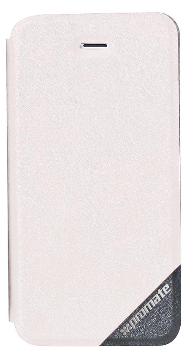 Promate Brace-i6P чехол для Apple iPhone 6, White6959144012964Оденьте свой новый Apple iPhone 6 в исключительный качеству, сделанный из кожи и термопластичного полиуретана чехол Promate Brace, и вы перестанете волноваться о сохранности ваших инвестиций! Гибкий, более долговечный, чем силикон, с отличной амортизацией и износостойкостью он выгодно отличается еще и тем, что очень тонкий.