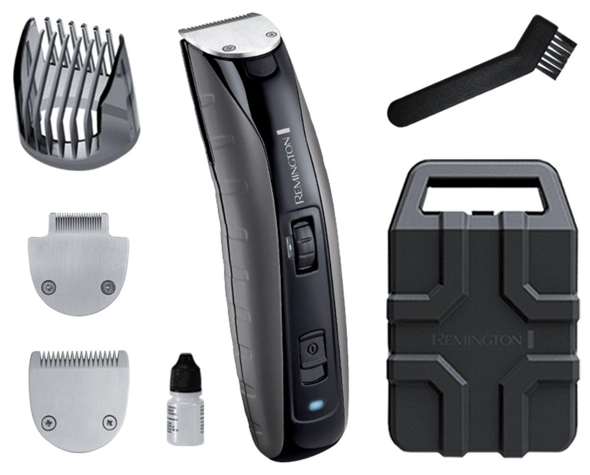 Remington MB4850 триммерMB4850Триммер для бороды MB4850 является самым мощным в коллекции Remington. Корпус устройства выполнен из прочного поликарбоната, который выдерживает удары и падения. Оснащенный литиевым аккумулятором, этот триммер для бороды отлично подойдет современному мужчине и гарантирует быстрый и эффективный результат.Благодаря детальному лезвию и лезвию для бороды, триммер Remington MB4850 обеспечивает безупречную точность стрижки. Этот прибор, оснащенный лезвиями с титановым покрытием, может подстригать волосы со скоростью 350 мм/с, что соответствует профессиональным характеристикам стрижки. Триммер работает до 120 минут в беспроводном режиме, а заряжается всего за 4 часа, что делает его использование более универсальным.Неважно, где вы захотите воспользоваться триммером для бороды Virtually Indestructible - вы будете уверены в превосходном результате. С помощью колесика вы сможете выбрать оптимальную длину регулируемой насадки от 1,5 мм до 18 мм, благодаря чему мы сможете легко создать желаемый образ. Этот триммер для бороды оснащен мощным мотором, который обеспечивает максимальную эффективность лезвий, позволяя добиться профессионального результата в любое время.Лезвия с покрытием из титанаПрофессиональное качество стрижки (350 мм/с) Сверхпрочный корпус из поликарбоната Детальное лезвиеЛезвие для щетиныДвойная мощность литиевого аккумулятора – работа в беспроводном режиме до 120 минутВремя зарядки - 4 часаРегулировочное колесико установки длины Полностью моющийся продукт