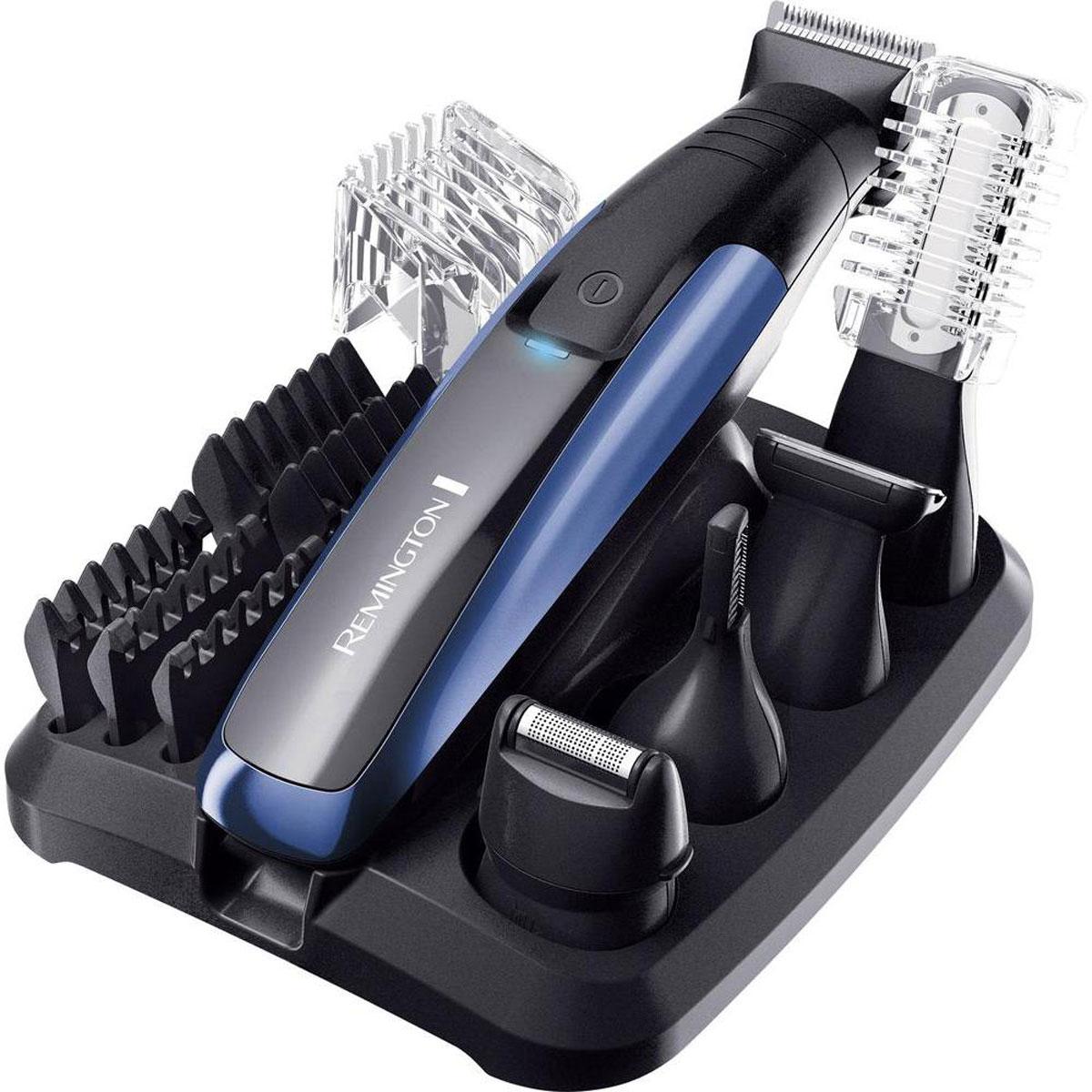 Remington PG6160 триммерPG6160Набор для ухода за волосами Remington PG6160 содержит все необходимые технологии и инновационные устройства, которые необходимы для полного создания образа и ухода за волосами для любого современного мужчины.Набор содержит пять насадок-головок - остается только выбрать, что вам нужно сегодня. Основной триммер с пятью насадки для разной длины (1.5, 3, 6, 9 и 12 мм), двусторонний вертикальный триммер для носа и ушей, сетчатая мини-бритва, детальный триммер и двусторонний триммер для тела. В дополнение ко всему, все насадки удобно хранить на компактной подставке. Ваш прибор всегда готов к использованию! Лучше, чем когда-либо - набор Remington PG6160 теперь обладает большими возможностями и гарантирует максимальную точность и качество стрижки.Полная зарядка за 4 часаБыстрая зарядка за 5 минутПолностью водостойкий