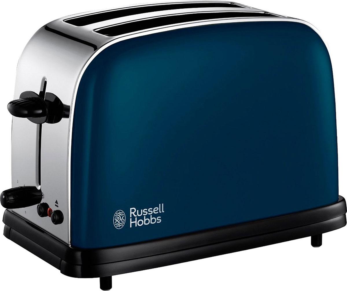 Russell Hobbs 18958-56 тостер18958-56Тостер Russell Hobbs 18958-56 выполнен в современном дизайне, что добавит стиля и изысканности как современному, так и традиционному кухонному интерьеру. Его широкие слоты с легкостью поджарят ломтики различной толщины в зависимости от ваших предпочтений: простой хлеб, багеты или булочки.Тостер Russell Hobbs 18958-56 обладает функциями разморозки и отмены текущей программы приготовления. Входящая в комплект решетка для разогрева поможет подогреть булочки или круассаны. Съемный поддон для крошек сделает процесс приготовления аккуратным и без лишних крошек на рабочей поверхности.