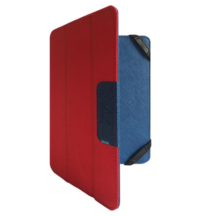Snoogy DoubleSide SN-DS-U7.85 чехол для планшета 7.85, Blue RedSN-DS-U7.85-blu/redУниверсальный двусторонний чехол Snoogy DoubleSide SN-DS-U7.85 для планшетов с диагональю экрана 7.85.Чехол придуман и изготовлен полностью в России из качественной ПУ-кожи и ткани оксфорд. Держатель устройства - перекидные резинки, которые крепко фиксируют планшет. Ко всем элементам планшета имеется свободный доступ. Передняя крышка служит подставкой для альбомной ориентации планшета.Упаковка для чехла представляет собой самостоятельный продукт - она выполнена в качестве косметички и может использоваться для хранения и перевозки полезных мелочей.