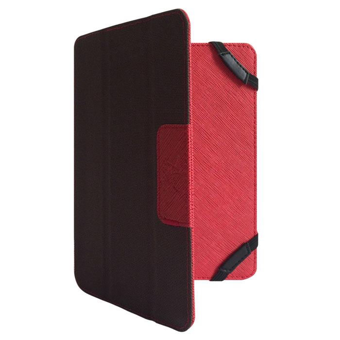 Snoogy DoubleSide SN-DS-U7 чехол для планшета 7, Red BrownSN-DS-U7-red/brnУниверсальный двусторонний чехол Snoogy DoubleSide SN-DS-U7 для планшетов с диагональю экрана 7.Чехол придуман и изготовлен полностью в России из качественной ПУ-кожи и ткани оксфорд. Держатель устройства - перекидные резинки, которые крепко фиксируют планшет. Ко всем элементам планшета имеется свободный доступ. Передняя крышка служит подставкой для альбомной ориентации планшета.Упаковка для чехла представляет собой самостоятельный продукт - она выполнена в качестве косметички и может использоваться для хранения и перевозки полезных мелочей.