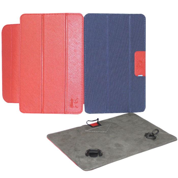 Snoogy Twin SN-TW-U7 чехол для планшета 7, Red BlueSN-TW-U7-red/bluУниверсальный чехол Snoogy Twin SN-TW-U7 для планшетов с диагональю экрана 7 со сменными лицевыми крышками. Меняйте лицевую панель по вашему настроению!Чехол придуман и изготовлен полностью в России из качественной ПУ-кожи и ткани с водоотталкивающим эффектом. Держатель устройства - эстетичные тонкие и надежные пластиковые уголки, которые крепко фиксируют планшет. Ко всем элементам планшета имеется свободный доступ. Предусмотрены отгибающиеся уголки на задней крышке для легкого доступа к задней камере устройства. Передняя крышка служит подставкой для альбомной ориентации планшета.Упаковка для чехла представляет собой самостоятельный продукт - она выполнена в качестве косметички и может использоваться для хранения и перевозки полезных мелочей.