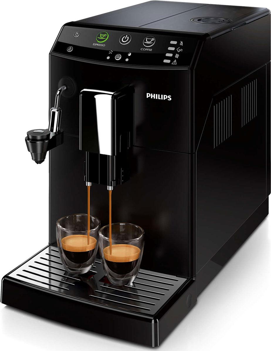 Philips HD8825/09, Black кофемашинаHD8825/09100% керамические жернова кофемашины Philips HD8825/09 способствуют полному раскрытию вкуса каждого кофейного зерна, при этом не перегревая их. А для получения молочной пены идеальной консистенции нужно нажать всего одну кнопку благодаря автоматическому капучинатору.Приготовьте одну или сразу две порции превосходного эспрессо, сваренного из свежемолотых кофейных зерен, просто нажав на кнопку и подождав несколько секунд. Благодаря автоматическому капучинатору вы сможете легко приготовить капучино с бархатистой молочной пеной. Автоматический капучинатор сцеживает молоко прямо из упаковки или кувшина, взбивает его и обеспечивает непрерывную подачу прямо в чашку без разбрызгивания.Забудьте о жженом привкусе кофе благодаря 100%-но керамическим жерновам, которые не перегревают зерна. Керамика гарантирует долгий срок службы и бесшумную работу. Выберите одну из пяти степеней помола на ваш вкус — от самого тонкого для приготовления насыщенного крепкого эспрессо до самого грубого для более легкого вкуса.Благодаря функции запоминания вы можете запрограммировать и сохранить нужный объем, чтобы всегда готовить любимый кофе так, как вам нравится. Одним нажатием кнопки вы сможете сварить великолепный напиток любого объема. Интуитивно понятный и простой пользовательский интерфейс Philips HD8825/09 с большими кнопками позволяет с легкостью управлять кофемашиной, в полной мере используя ее возможности.Положение носика подачи кофе настраивается одним простым движением, поэтому вы сможете готовить горячий и ароматный кофе, используя чашку любого размера. При установке носика в самое высокое положение вы сможете использовать даже бокал для латте макиато высотой 15 см.Philips HD8825/09 не занимает много места благодаря компактной конструкции, а вместительные контейнеры для зерен и отходов и резервуар для воды не требуют частого наполнения или опустошения. Интеллектуальная автоматическая кофемашина гарантирует максимальное удобство использования
