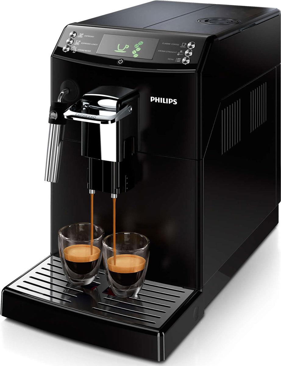 Philips HD8842/09, Black кофемашинаHD8842/09Как начинается ваше утро — с классического кофе или крепкого эспрессо? С помощью функции CoffeeSwitch кофемашины Philips HD8842/09 вы сможете приготовить из свежих зерен эспрессо или классический кофе, просто повернув переключатель. Превосходный вкус заварного кофе, приготовленного с помощью автоматической эспрессо-кофемашины! Наслаждайтесь классическим кофе по утрам или крепким эспрессо, просто изменив положение переключателя. Уникальная функция CoffeeSwitch позволяет выбирать идеальный кофейный напиток, приготовленный из свежемолотых зерен, для любого настроения или времени суток.Классический капучинатор, который бариста называют панарелло, используется для приготовления с помощью пара мягкой молочной пены для вашего капучино. Почувствуйте себя бариста — готовьте вкусные молочные напитки традиционным способом! Забудьте о жженом привкусе кофе благодаря 100%-но керамическим жерновам, которые не перегревают зерна. Керамика гарантирует долгий срок службы и бесшумную работу.Выберите одну из пяти степеней помола на ваш вкус — от самого тонкого для приготовления насыщенного крепкого эспрессо до самого грубого для более легкого вкуса. Вы всегда сможете приготовить идеальный кофе в соответствии с вашими личными предпочтениями благодаря настройкам температуры, объема и крепости. Кроме того, с помощью функции памяти можно сохранить разный объем для каждого напитка. Наслаждайтесь превосходным качеством кофе, приготовленным всего одним нажатием кнопки.Положение носика подачи кофе Philips HD8842/09 настраивается одним простым движением, поэтому вы сможете готовить горячий и ароматный кофе, используя чашку любого размера. При установке носика в самое высокое положение вы сможете использовать даже бокал для латте макиато высотой 15 см.На интуитивно понятном дисплее отображается вся необходимая информация, благодаря чему вы сможете легко управлять кофемашиной и готовить идеальные кофейные напитки. Кнопки на фронтальной панели обозначают 