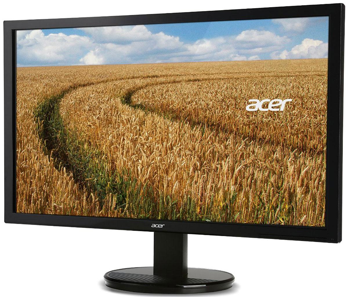 Acer K192HQLB, Black мониторUM.XW3EE.002Монитор Acer K192HQLB — это доступное по цене устройство для повседневного использования. Он обеспечивает максимальный комфорт без ущерба для качества изображения. Стильный дизайн совмещает в себе широкие возможности подключения, с помощью различных портов, отличную производительность по привлекательной цене.Благодаря высокой детализации на экране со светодиодной подсветкой и разрешением Full HD, вы получите еще больше удовольствия от работы и развлечений. Благодаря системе адаптивного управления контрастностью Acer Adaptive Contrast Management, яркие цвета делают великолепное изображение еще лучше.Экран ComfyView предотвращает бликование для более комфортного просмотра. Также он воспроизводит яркие цвета, чтобы вы получили удовольствие от просмотра. Установите угол обзора дисплея Acer K192HQLB для оптимального просмотра с помощью эргономичной подставки, угол наклона которой составляет от -5 до 25 градусов.Монитор Acer K192HQLB является безопасным как для пользователей, так и для окружающей среды благодаря использованию безртутной белой светодиодной подсветки и соответствию требованиям ENERGY STAR 6.0. В технологиях Acer EcoDisplay используется стекло для дисплея, не содержащее мышьяка, которое не наносит вреда окружающей среде. Кроме того, упаковка Acer произведена из переработанных материалов.