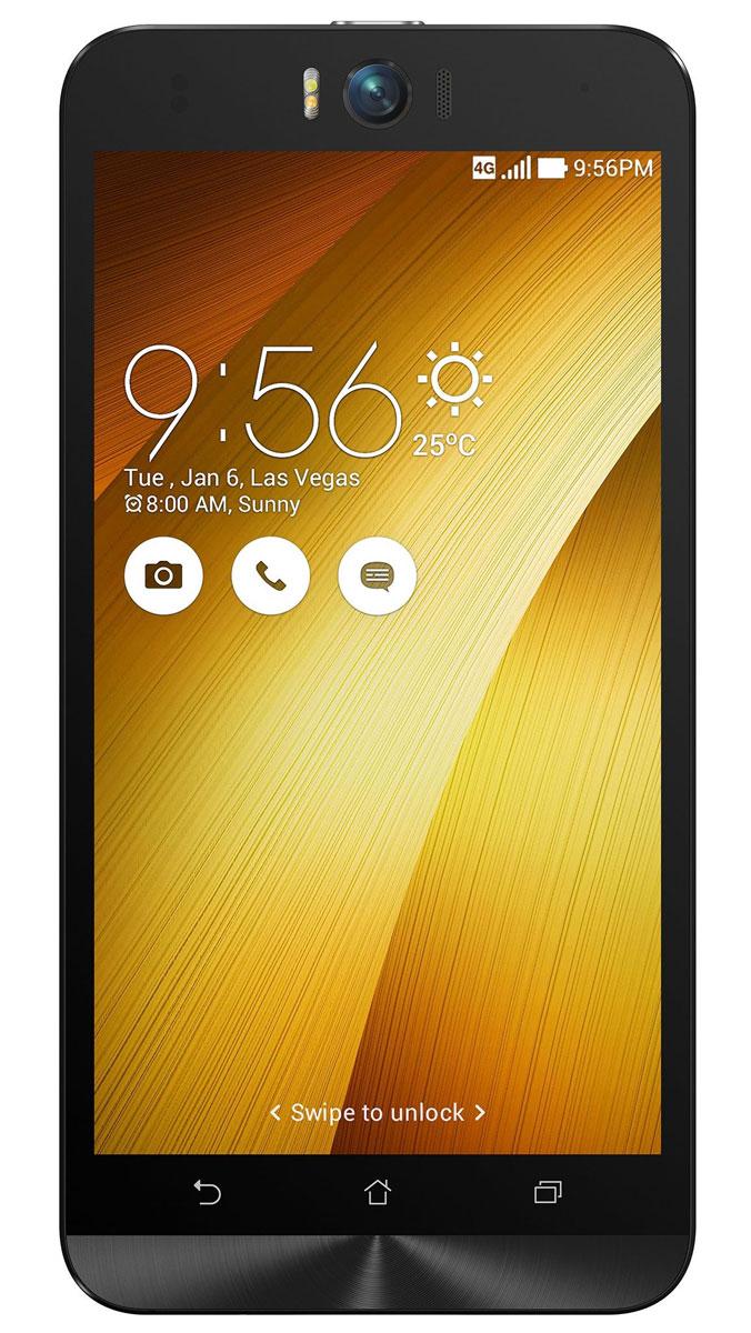 ASUS ZenFone Selfie ZD551KL (16GB), Gold (90AZ00U9-M01280)90AZ00U9-M01280Asus Zenfone Selfie ZD551KL - инновационное сочетание современных технологий, модных трендов и безупречного качества изготовления. В этом смартфоне есть все, чтобы увидеть себя в самом лучшем свете - две отличные камеры с множеством специальных режимов съемки, удобный интерфейс ZenUI и высококачественный экран.Отличительной особенностью смартфона ZenFone Selfie является высококачественная фронтальная камера с технологией PixelMaster, разрешением 13 мегапикселей, большой диафрагмой (F/2,2) и 88-градусным объективом, причем в режиме панорамных селфи она дает возможность снимать фотографии, охватывающие угол до 140 градусов. И фронтальная, и тыловая камеры смартфона оснащены двухцветной светодиодной вспышкой. В обоих применены современные компоненты от Largan и Toshiba, а в тыловой также реализована высокоскоростная система лазерной автофокусировки.Благодаря поддержке системы жестового управления ZenMotion, для перевода смартфона ZenFone Selfie в режим съемки селфи достаточно начертить пальцем на его экране определенный символ. По умолчанию это латинская буква S, однако ее легко можно заменить на любую другую. Функция улучшения портрета позволяет автоматически украсить селфи-снимки в режиме реального времени: убрать дефекты кожи, подкорректировать черты лица и т.д.Двухцветная вспышка ZenFone Selfie позволяет добиться естественных цветов на фотографиях, снимаемых в помещении. Режим увеличенного динамического диапазона позволяет камерам ZenFone Selfie лучше передавать мельчайшие детали в темных участках фотоснимка.Asus Zenfone Selfie ZD551KL выполнен в ярком корпусе, который обладает типичными для смартфонов Asus декоративными элементами в стиле Zen, такими как узор из концентрических окружностей. Расположенные на задней панели кнопки управления громкостью звука и камерой очень легко нажимать указательным пальцем.IPS-дисплей смартфона ZenFone Selfie обладает разрешением 1920х1080 пикселей и широкими