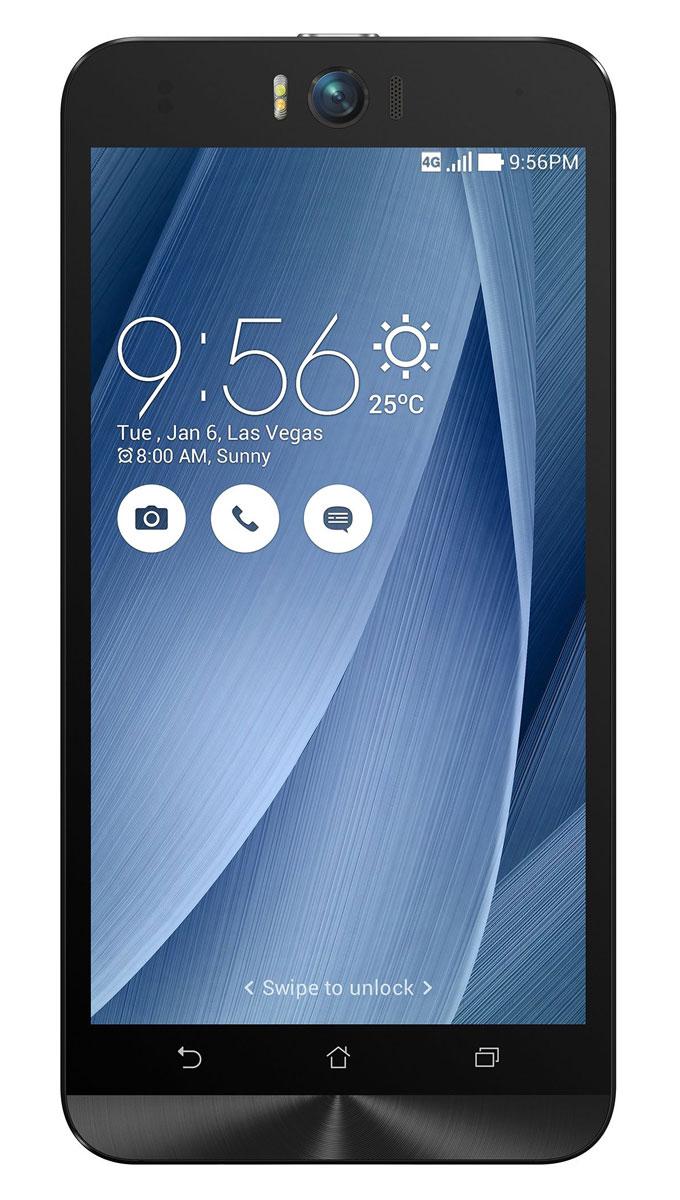 ASUS ZenFone Selfie ZD551KL (32GB), Silver (90AZ00U6-M01350)90AZ00U6-M01350Asus Zenfone Selfie ZD551KL - инновационное сочетание современных технологий, модных трендов и безупречного качества изготовления. В этом смартфоне есть все, чтобы увидеть себя в самом лучшем свете - две отличные камеры с множеством специальных режимов съемки, удобный интерфейс ZenUI и высококачественный экран.Отличительной особенностью смартфона ZenFone Selfie является высококачественная фронтальная камера с технологией PixelMaster, разрешением 13 мегапикселей, большой диафрагмой (F/2,2) и 88-градусным объективом, причем в режиме панорамных селфи она дает возможность снимать фотографии, охватывающие угол до 140 градусов. И фронтальная, и тыловая камеры смартфона оснащены двухцветной светодиодной вспышкой. В обоих применены современные компоненты от Largan и Toshiba, а в тыловой также реализована высокоскоростная система лазерной автофокусировки.Благодаря поддержке системы жестового управления ZenMotion, для перевода смартфона ZenFone Selfie в режим съемки селфи достаточно начертить пальцем на его экране определенный символ. По умолчанию это латинская буква S, однако ее легко можно заменить на любую другую. Функция улучшения портрета позволяет автоматически украсить селфи-снимки в режиме реального времени: убрать дефекты кожи, подкорректировать черты лица и т.д.Двухцветная вспышка ZenFone Selfie позволяет добиться естественных цветов на фотографиях, снимаемых в помещении. Режим увеличенного динамического диапазона позволяет камерам ZenFone Selfie лучше передавать мельчайшие детали в темных участках фотоснимка.Asus Zenfone Selfie ZD551KL выполнен в ярком корпусе, который обладает типичными для смартфонов Asus декоративными элементами в стиле Zen, такими как узор из концентрических окружностей. Расположенные на задней панели кнопки управления громкостью звука и камерой очень легко нажимать указательным пальцем.IPS-дисплей смартфона ZenFone Selfie обладает разрешением 1920х1080 пикселей и широки