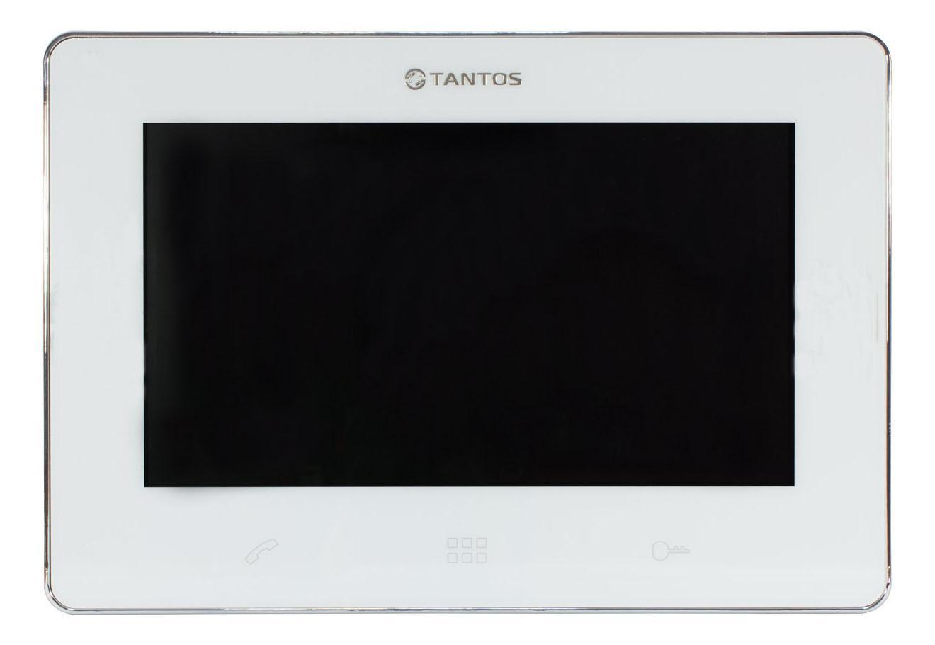 Tantos Stark, White видеодомофонStark (White)Дизайн монитора прост и изящен, его сенсорный экран 9 дюймов позволяет общаться с монитором, как со смартфоном. Значки меню выполнены подобно значкам меню современных смартфонов. Подключение 2-х вызывных панелей и 2-х видеокамерВозможность подключения до 4-м мониторов в одной системе сширокими возможностями адресного интеркома.Возможность открывания замка калитки и ворот при использованииодной вызывной панели при подключении реле TS-NC05.Возможность работы как в индивидуальном, так и в многоквартирном режиме.Совместимость с большинством моделей отечественных вызывныхпанелей.Голосовая почта, фоторамка, встроенный видеорегистратор (детектор движения на 1 канал).Возможность установки мелодии в формате MP3 в качестве сигналавызова.