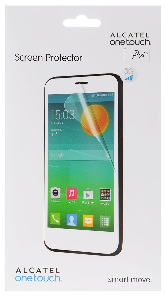 Alcatel Screen Protector защитная пленка для OneTouch Pixi 8, прозрачнаяG9005-3AALSPGЗащитная пленка Alcatel Screen Protector сохраняет экран планшета гладким и предотвращает появление на нем царапин и потертостей. Пленка практически незаметна на экране устройства и сохраняет все характеристики цветопередачи и чувствительности сенсора.
