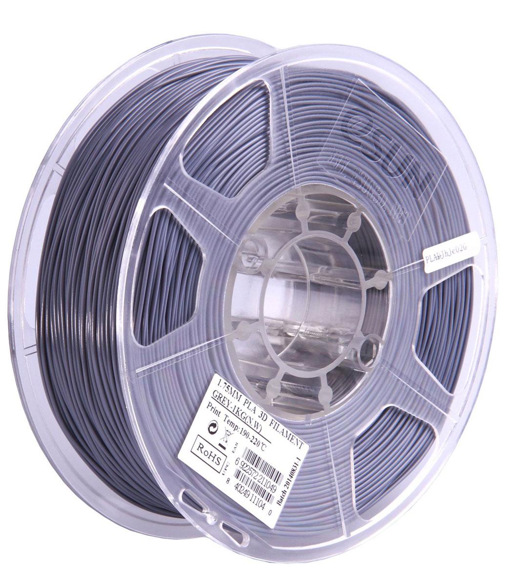 ESUN PLA-пластик в катушке, Grey (PLA175H1)PLA175H1Пластик PLA от ESUN долговечный и очень прочный полимер, ударопрочный, эластичный и стойкий к моющим средствам и щелочам. Один из лучших материалов для печати на 3D принтере. Пластик не имеет запаха и не является токсичным. Температура плавления190-220°C. PLA пластик для 3D-принтера применяется в деталях автомобилей, канцелярских изделиях, корпусах бытовой техники, мебели, сантехники, а также в производстве игрушек, сувениров, спортивного инвентаря, деталей оружия, медицинского оборудования и прочего.Диаметр нити: 1.75 мм