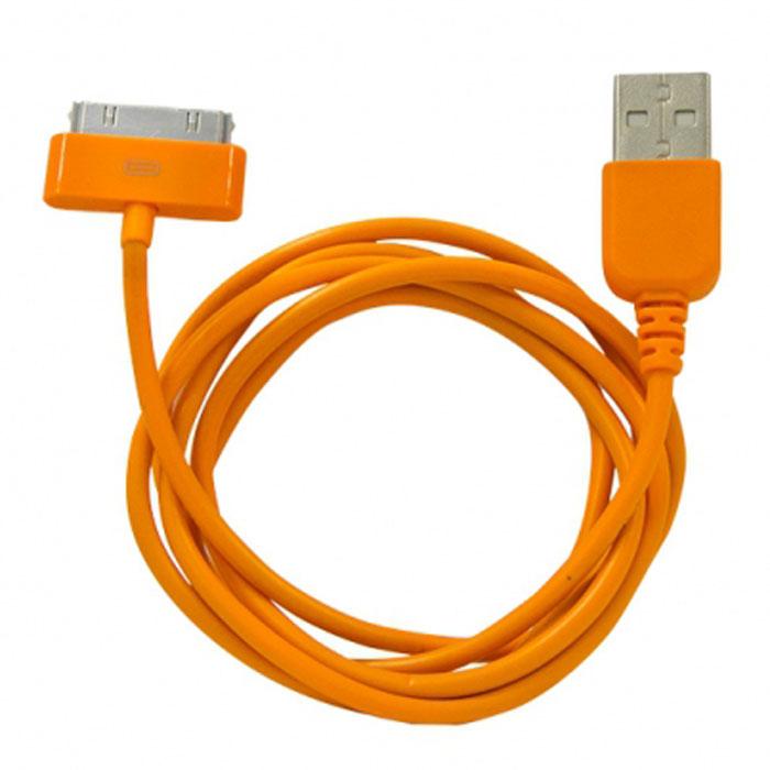 Human Friends Rainbow C, Orange кабель USB/30-pinRainbow C OrangeHuman Friends Rainbow C - кабель для соединения устройств Apple c USB-портом. Он может использоваться для передачи данных, зарядки аккумулятора и адаптирован для работы со всеми операционными системами. Главное достоинство Rainbow - в его внешнем виде. Он выгодно отличается от привычных и скучных расцветок стандартных кабелей. И кроме того, кабель упакован в очень удобный и компактный пакет-чехол с многоразовой системой открывания-закрывания.