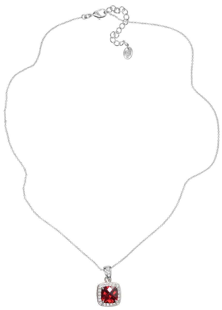 Колье Taya, цвет: серебристый, красный. T-B-4803Колье (короткие одноярусные бусы)Элегантное колье Taya выполнено из бижутерийного сплава с гальваническим покрытием родием. Колье дополнено подвеской, которая оформлена гранатовым цирконом.Колье застегивается на практичный замок-карабин, длина изделия регулируется за счет дополнительных звеньев.Колье Taya выгодно подчеркнет изящество, женственность и красоту своей обладательницы.