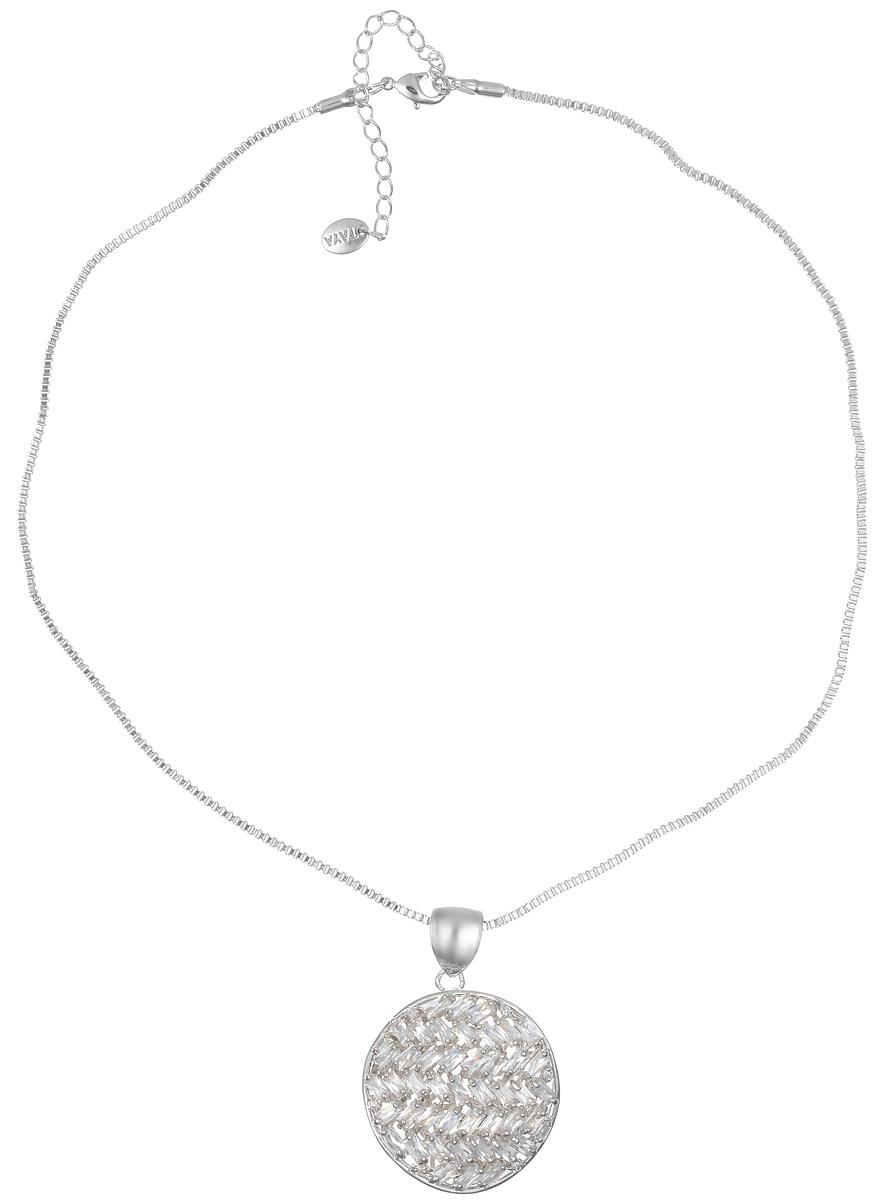 Колье Taya, цвет: серебристый. T-B-716539890|Колье (короткие одноярусные бусы)Элегантное колье Taya выполнено из бижутерийного сплава. Колье дополнено ажурной подвеской оригинальной формы, которая оформлена стеклянными стразами.Колье застегивается на практичный замок-карабин, длина изделия регулируется за счет дополнительных звеньев.Колье Taya выгодно подчеркнет изящество, женственность и красоту своей обладательницы.
