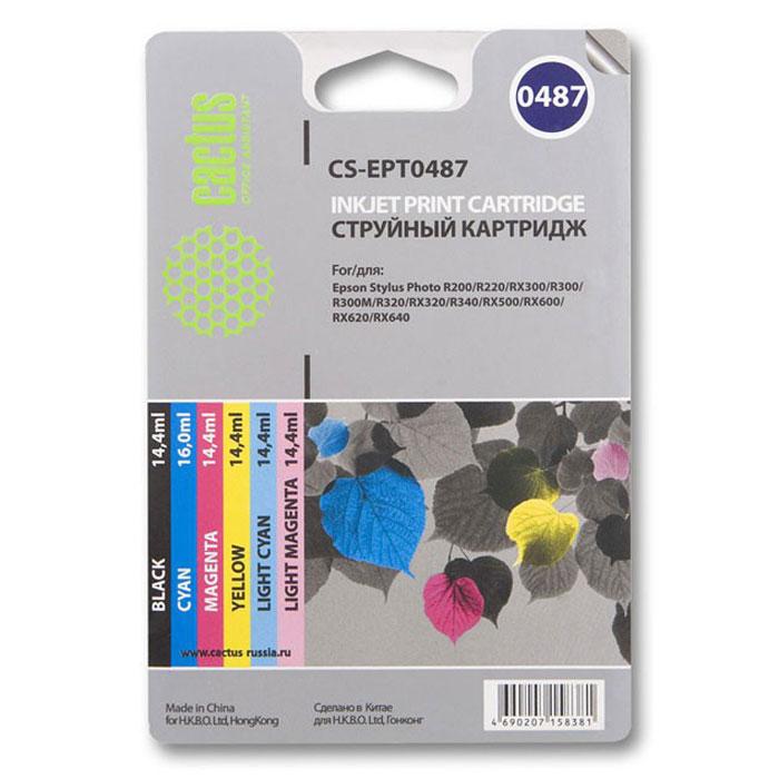 Cactus CS-EPT0487, Color комплект картриджей для Epson Stylus Photo R200/ R220CS-EPT0487Каждый, кто пользуется печатающими устройствами знает, что они не обходятся без расходных материалов. Ощутите надежное и профессиональное качество печати с Cactus CS-EPT0487. С этим комплектом картриджей значительно увеличится эффективность работы, так как их ресурса хватит на длительный период.Подходят для Epson Stylus Photo R200 / R220 / R300 / R320 / R340 / RX500 / RX600 / RX620 / RX640