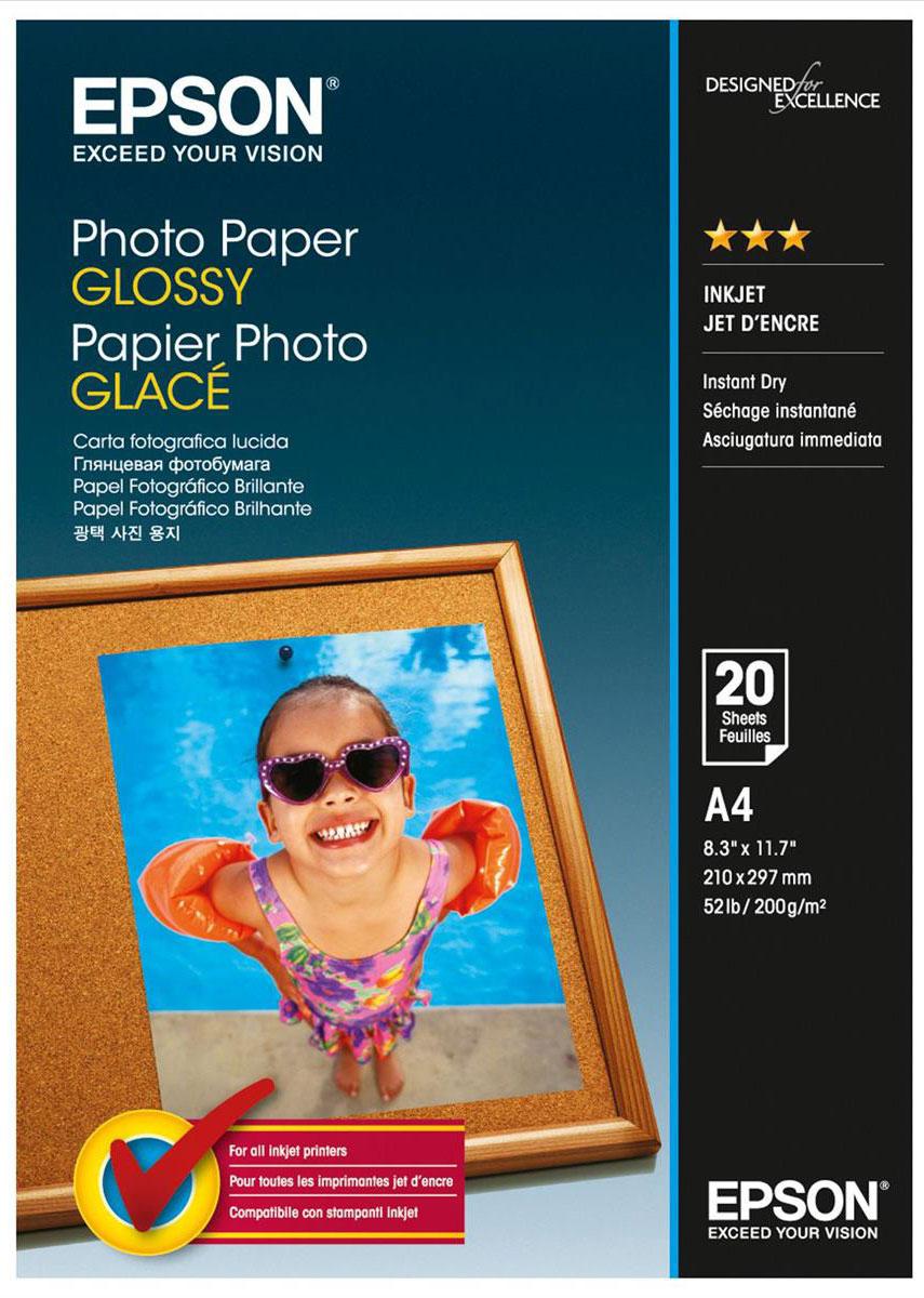 Epson Photo Paper (C13S042538) фотобумага A4, 20 лC13S042538Плотная глянцевая фотобумага Epson Photo Paper с полимерным покрытием предназначена для ежедневной печати высококачественных фотографий в домашних условиях. Качество цветопередачи соответствует лучшим образцам фотобумаги Epson. Имеет высокую водо- и светостойкость, стойкость к истиранию и действию кислорода. Обладает улучшенными характеристиками подачи в печатающее устройство.Ширина рулона/листа: 210 ммПлотность: 200 г/м2Толщина: 0,2 ммПрозрачность: 0,94Яркость: 0,92Ламинация