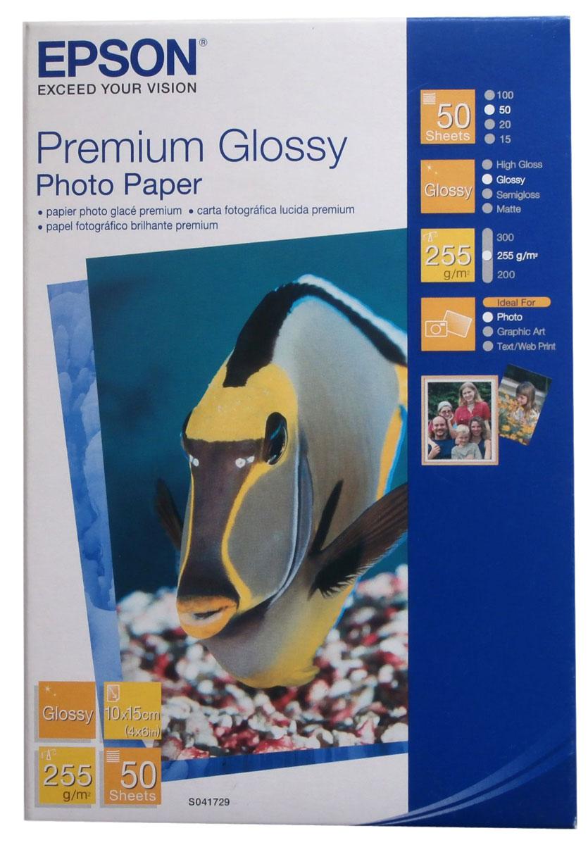 Epson Premium Glossy Photo (C13S041729) фотобумага 10x15, 50 л